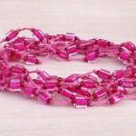 cube beads yarn bracelet