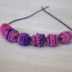 Handmade Brass-Fiber Beads for Artisan Jewelry Designs